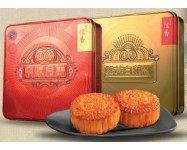 Hang Heung 恆香月餅 - Gold Metal Box (White Lotus 2 Yolk) 4 pieces